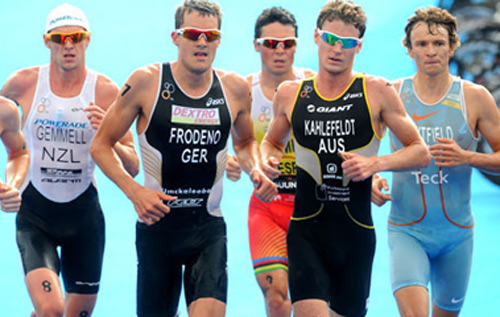 'Lean but mean' is the desired athletic build of a triathlete, just like these professionals. *Photo supplied
